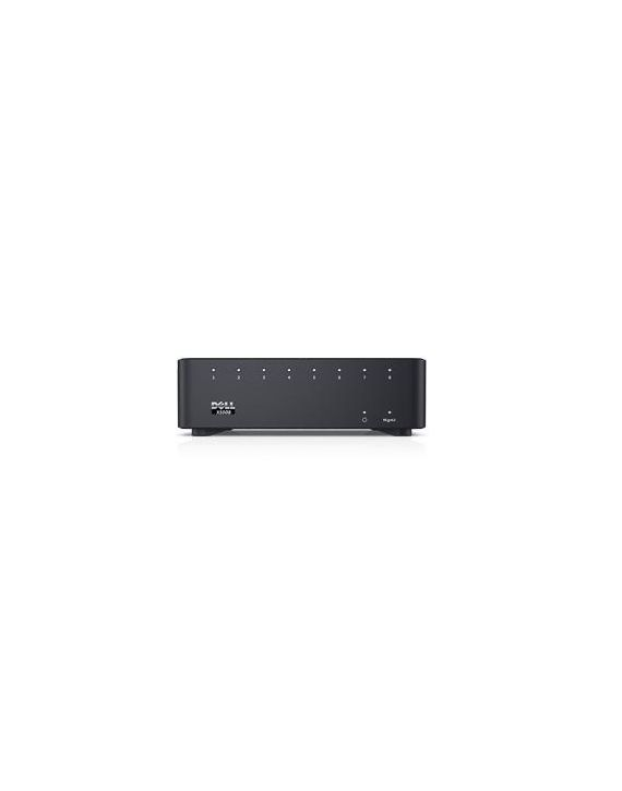Dell Networking X1008 Smart Web Managed Switch, 8x 1GbE ports, AC or POE powered